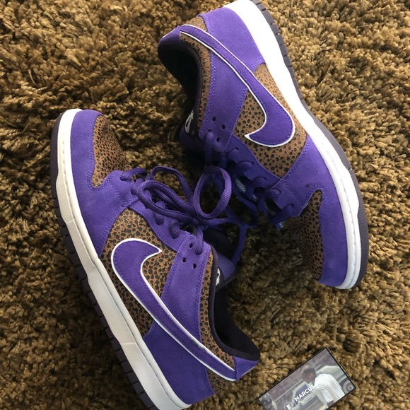 the latest 4a1b0 3869c Nike Sb QS Kenny Powers Purple safari dunk low. M_5c689edb819e908f83544f06